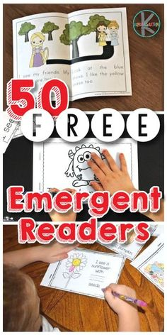 Free Kindergarten Emergent Readers - looking for free printable books to hel. - Free Kindergarten Emergent Readers – looking for free printable books to help your kindergart - Kindergarten Reading Activities, Kindergarten Lesson Plans, Homeschool Kindergarten, Kindergarten Worksheets, Teaching Reading, Homeschooling, Learn To Read Kindergarten, Reading Skills, Reading Books