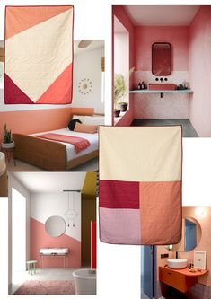 Decor inspiration. Hamabi.  Soft Skin Quilt Simple Bed, Double Beds, Skin So Soft, Dusty Pink, Geometric Shapes, Quilting, Things To Come, Blanket, Inspiration