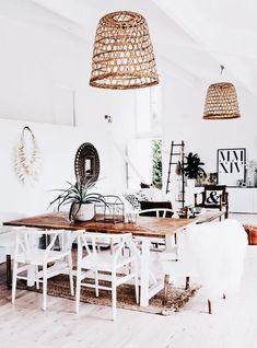 Scandinavian Dining Room Design: Ideas & Inspiration - Di Home Design Coastal Living Rooms, Coastal Cottage, Coastal Decor, Romantic Cottage, Coastal Farmhouse, Coastal Curtains, Coastal Entryway, Coastal Bedding, Romantic Beach