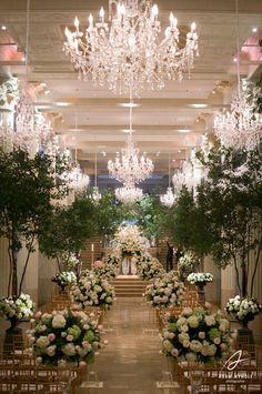 we ❤ this!  moncheribridals.com #weddingaisle #weddingarches
