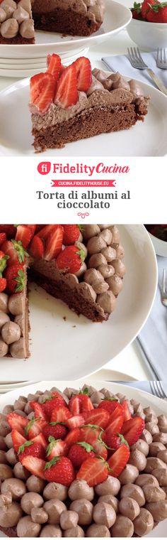 Torta di albumi al cioccolato