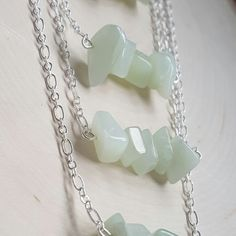 Sea Green Jade Bar Necklace Set perfect Bridesmaid's gifts available at www.etsy.com/shop/LovesGardenJewelry #minimalism #gemstonejewelry #handmade #jade #gemstone #bridesmaid #wedding #weddingaccessories #weddingjewelry #gift #bridesmaids #naturejewelry #natural #gems #etsy #etsyshop #etsyseller #lovesgarden #lovesgardenjewelry