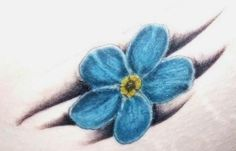 Forget Me Not Flower heart Tattoo Designs | Forget Me Not Flower Matching Tattoos