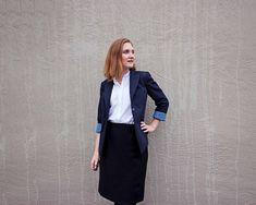 The Graduate Blazer (Made by Meg) Blazer Pattern, Strike A Pose, Lining Fabric, Cotton Linen, Graduation, Poses, Clothes, Accessories, Fashion