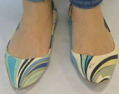 EMILIO PUCCI BALLET FLAT WITH LEATHER POUCH SIZE 8.5 38.5 COMFY PRETTY AWESOME!