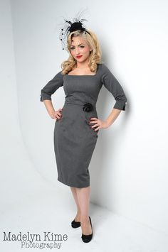 Hell's Belles Stretch Twill Dress in Grey