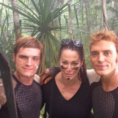 No filter this is for the hunger games fans. Here you go, out of focus but..... Life in the jungle is hard!... these two amazing talented fun funny