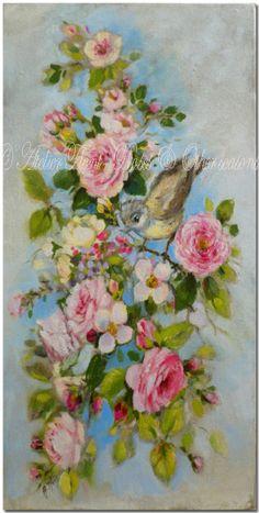 ✿ Original paintings by Hélène Flont