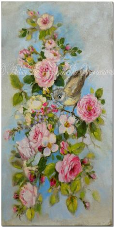 ✿ Original paintings by Helen Flont