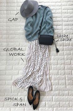 今買っても惜しくない!4月まで着る、最愛グリーン【高見えプチプラファッション #97】 | ファッション誌Marisol(マリソル) ONLINE 40代をもっとキレイに。女っぷり上々! Modern Hijab Fashion, Hijab Fashion Inspiration, Ethical Fashion, Cute Fashion, Fashion Looks, Maxi Outfits, Casual Skirt Outfits, Chic Outfits, Fashion Outfits