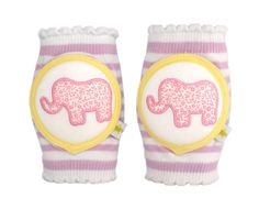 Crawlings knee pads.  Cute or will these just fall off?