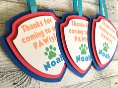Paw Patrol Treat Tags - Goody Bag Tags - Thank You Tags - Paw Patrol Theme - Paw Patrol Party - Paw Patrol Decorations - Birthday Party Tags