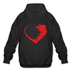 BOOMY Love Warrior Heart Mans Hooded Sweatshirt SIZE M *** Be sure to check out this awesome product.