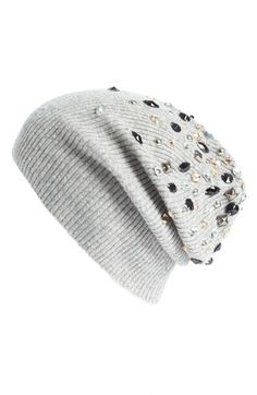 autumn cashmere Embellished Cashmere Beanie available at #Nordstrom