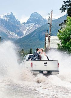 'The whole town was feeling hope': Flooding in Canmore couldn't keep couple from saying 'Ido'