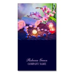 pink orchid Aromatherapy Natural massage salon Business Cards