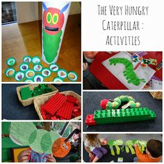 The Very Hungry Caterpillar activities blog post - lots of easy activities and experiences to go with the story