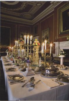 Dinner is served! A Regency-era dining room at Attingham Park (photo NTPL David Levenson)