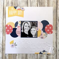 I enjoyed playing with this month's featured CTMH collection, Beautiful Friendship. I incorporated a pocket card as a banner, some circle Thin Cuts using B&T paper, a CTMH Cricut cut for the title, and the My Acrylix Beautiful Friendship-Scrapbooking stamp set for the stamped flowers. https://instagram.com/p/BiF2Rc_H4c7/