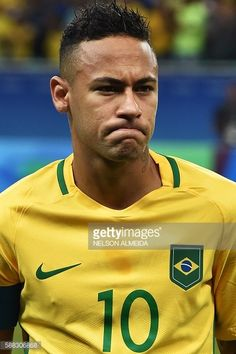 #RIO2016 Neymar of Brazil gestures before the Rio 2016 Olympic Games mens first round Group A football match Brazil vs Denmark at the Arena Fonte Nova Stadium...