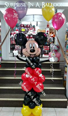 mickey  with balloons by SURPRISE IN A BALLOON.  We can make fun décor for your next event 923 south main street Elkhart like us  https://www.facebook.com/surpriseinaballoon 1?ref=bookmarksth   http://surpriseinaballoon.vpweb.com/