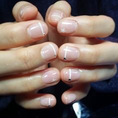 Coming straight from Korea and Japan minimalist manicure consists of a nude base with some abstract or understated shapes on top.