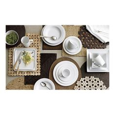 Natural Textures, white dinnerware | Crate and Barrel I love the earthy, organic, yet sophisticated feel of these dishes, flatware