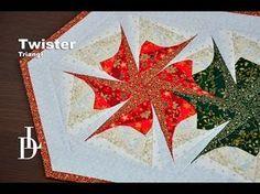 Patchworkové pravítko Twister | Pravítka Patchwork | Patchworková Pravítka | LIZA DECOR - Přikrývky, polštáře, střihy a pravítka na patchwork