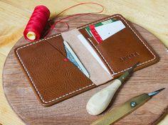 Braun Leder Geldbörse italienische Veg Tan von SHKIRA auf Etsy