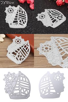 [Visit to Buy] KiWarm Sailing Boat Metal Cutting Dies Sea Rover Ship Stencil For DIY Scrapbooking Album Decorative Embossing Paper Card Craft #Advertisement