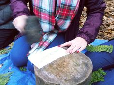 Forest School Inspired Activities - Natural Fabric Dyeing with Leaves 3