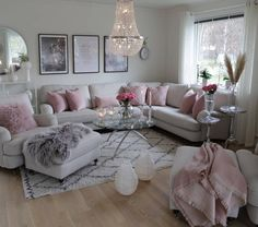 What a girlie and glam living room. 2019 What a girlie and glam living room. The post What a girlie and glam living room. 2019 appeared first on Apartment Diy. Romantic Living Room, Living Room Decor Cozy, Shabby Chic Living Room, New Living Room, My New Room, Home And Living, Small Living, Decor Room, Romantic Home Decor