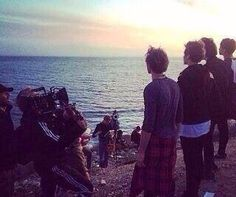Pic from the set of amnesia music video they are filming
