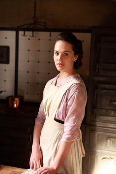 Sybil in her kitchen uniform   by Evangeline Holland