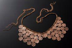 Bow Tie Big Statement Necklace rose gold 24  karat by inbarshahak, $379.00