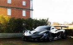 Scarica sfondi McLaren P1, auto sportive, supercar, nero McLaren
