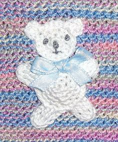 Free Crochet Bear Applique Pattern. this could be cute with a little work!