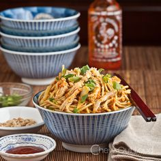 Peanut Sesame Noodles with Sriracha - Easy, Healthy, Super Tasty!  It's one of our faves.