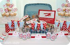 Um dos temas preferidos para aniversário de 1 ano de menino, ou chá de bebê, é aviãozinho!   Vejam que lindas inspirações para festa avi...