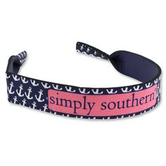 Simply Southern Anchor Sunglass Retainer - Navy