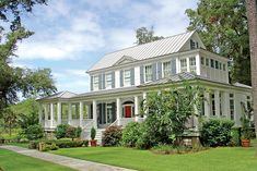 Looking for the best house plans? Check out the Carolina Island House plan from Southern Living. Coastal Living Magazine, Southern Living House Plans, Living Vintage, Cottage Plan, Traditional Exterior, Traditional House, Best House Plans, Farmhouse Plans, Texas Farmhouse