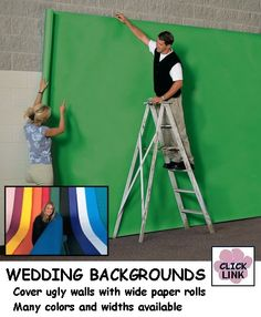Four foot wide colored paper for hiding ugly walls at your #Wedding #Reception. $18.99 roll (4' x 50')