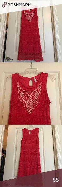 Coral Dress Form fitting, minimally worn Xhilaration Dresses Mini