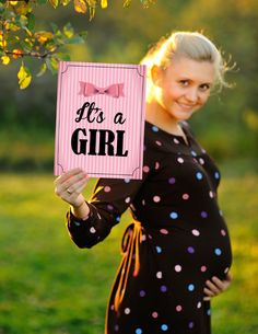It's a Girl Gender Reveal Announcement Artwork  by GoodiesDesigns