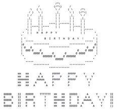 ASCII art for birthdays. Even if it's your unbirthday. Happy Birthday Emoticon, Birthday Emoticons, Happy Birthday Art, Happy Birthday Messages, Birthday Cake, Emoji Text Art, Cool Text Symbols, Keyboard Symbols, Emoji Texts