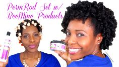 How to Do A Perm Rod Set on 4C Natural Hair. I used BeeMine Curly Butter for this style. It provide a soft hold and great definition. #naturalhair #beemineproducts