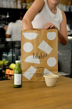 Branding and photography for Blaho, a hip restaurant inside Palacio de Hierro's Wellness center in Santa Fe, Mexico City. Food Branding, Food Packaging Design, Restaurant Branding, Packaging Design Inspiration, Graphic Design Inspiration, Creative Inspiration, Color Inspiration, Packaging Box, Print Packaging