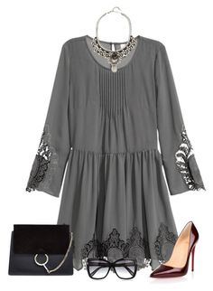 Untitled #3111 by elia72 on Polyvore featuring polyvore, fashion, style, Christian Louboutin, Chloé, DANNIJO, Tom Ford and clothing #elia72