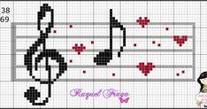 Cross Stitch Letter Patterns, Cross Stitch Music, Tiny Cross Stitch, Cross Stitch Letters, Cross Stitch Heart, Cross Stitch Cards, Cross Stitch Designs, Cross Stitching, Cross Stitch Embroidery