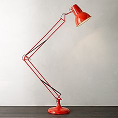 Buy John Lewis Elliot Floor Lamp, Red online at JohnLewis.com - John Lewis